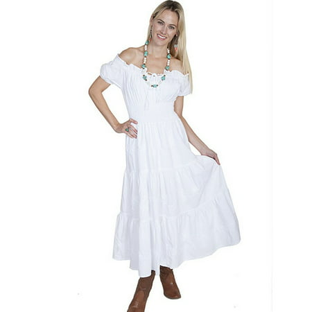 Scully Western Womens Cantina Cap Sleeve Dress Tie Front PSL-168 (Cowgirl Western Dresses)