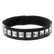 Skeleteen Biker Leather Studded Choker - Gothic Punk Rock N Roll Jewelry Accessories Leather and Metal Collar Costume Necklace