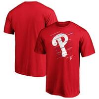 Men's Fanatics Branded Red Philadelphia Phillies Team Streak T-Shirt