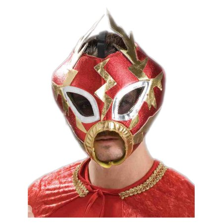New Adult's Rowdy Red Wrestling Lucha Libre Costume Mask - Lucha Libre Halloween Costume