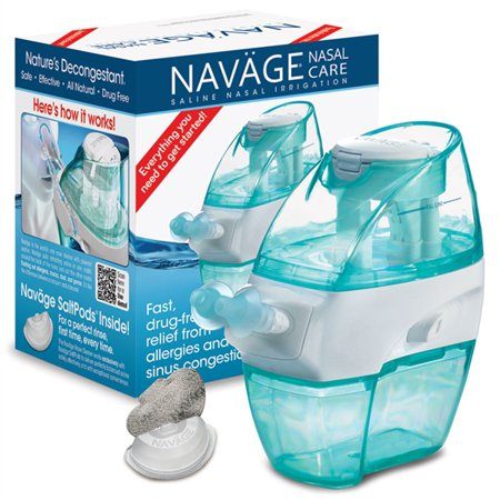 Navage Nasal Irrigation Starter Bundle: Navage Nose Cleaner and 18 SaltPod Capsules