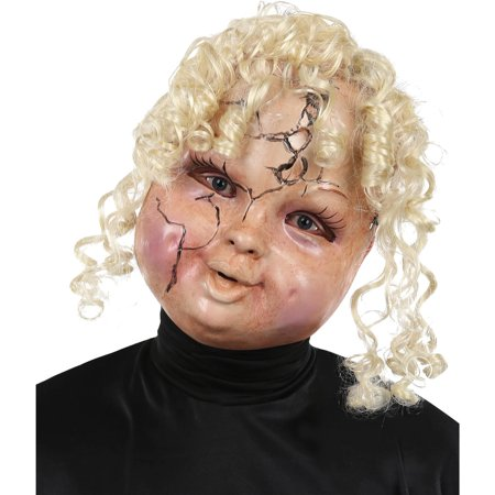 Creepy Carrie Mask Adult Halloween Accessory - Vintage Paper Halloween Masks