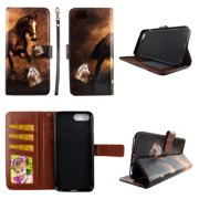 Brown Horse Wallet Case for iPhone 6 / 6s / 7 / 8 Folio Standing Cover Card Slot Money Pocket Magnetic Closure Fashion Flip Pu Leather