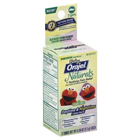 Baby Orajel Naturals Daytime Amp Nighttime Teething Gel Twin