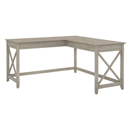 Incredible Bush Furniture Key West 60W L Shaped Desk Washed Gray Interior Design Ideas Jittwwsoteloinfo