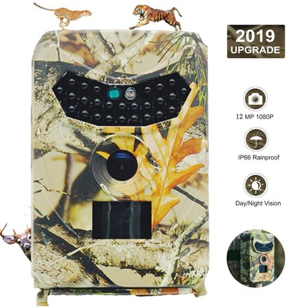 1080P Outdoor Hunting Trail Camera Faayfian Digital Infrared Game Camera Night Vision Effectively Prevent Rain, Dust and Insects,Great for Wildlife Hunting Monitoring and Farm (Best Game Camera Under 100)