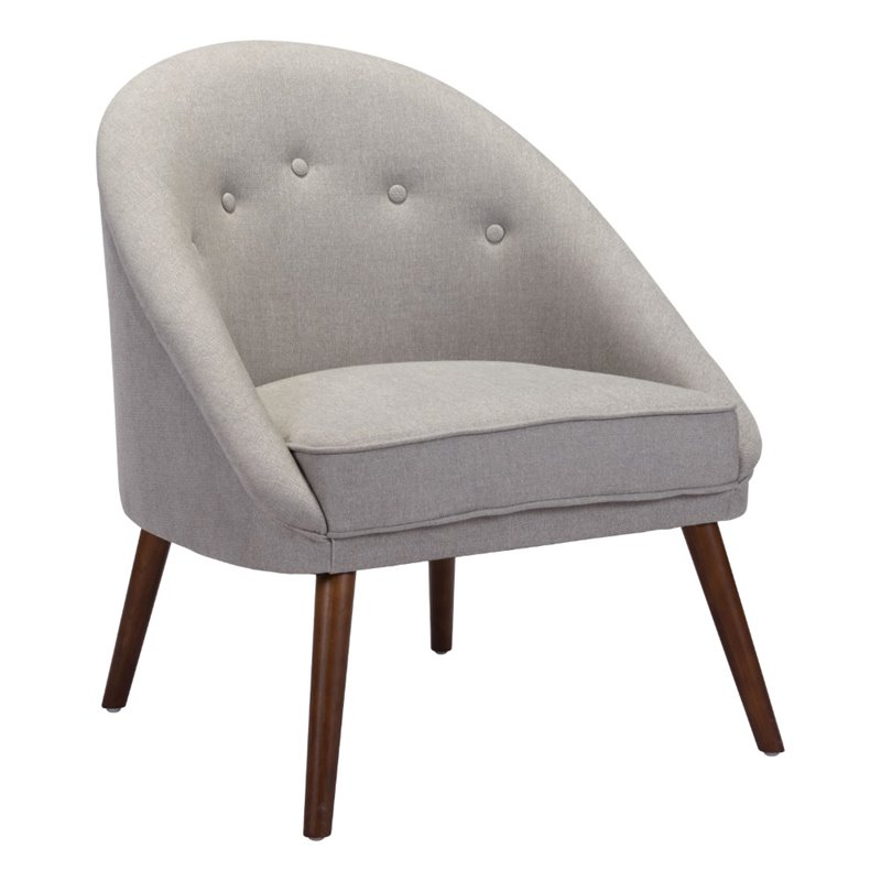 Zuo Carter Accent Chair in Light Gray