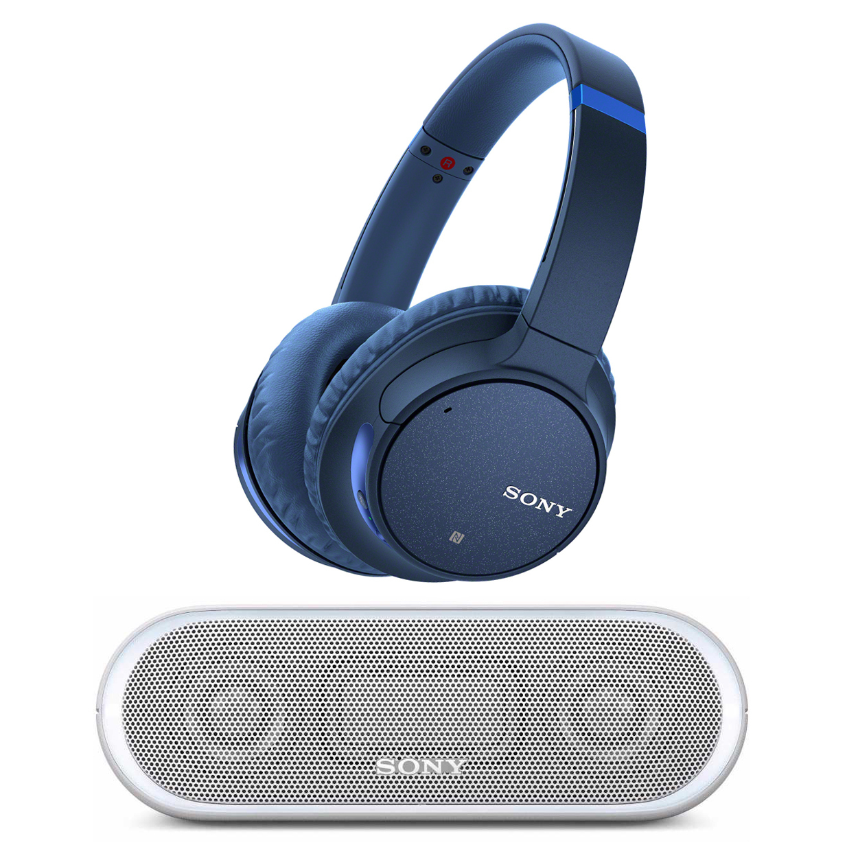 Sony WH-CH700N Wireless Noise Canceling Headphones (Blue) with Bluetooth Speaker
