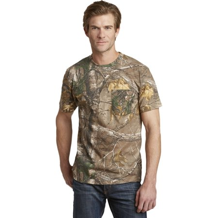 Russell Outdoors S021R Realtree Explorer 100% Cotton T-Shirt with Pocket, Realtree Xtra, S