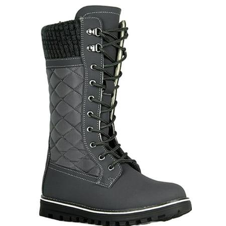 Polar-01 Ladies Waterproof Walking Warm Hiking Snow Rain Winter Mid Calf Boot (The Best Waterproof Boots For Walking)