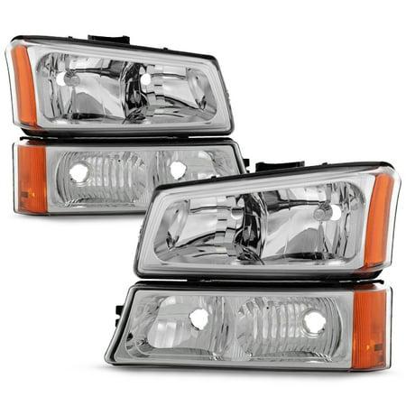 Chevy Caprice Signal Light (Fit 2003-2006 Chevy Silverado 2003-06 Avalanche Headlights+Bumper Signal)