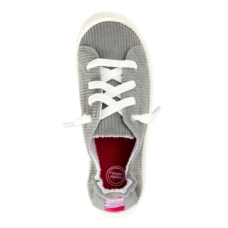 Wonder Nation Girls Casual Bump Toe Sneakers