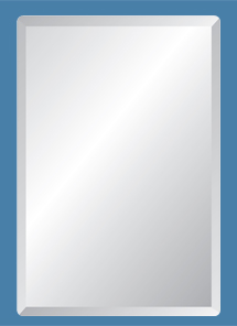 """18"""" x 40"""" Rectangle Frameless Mirror with Polished Beveled Edges by"""