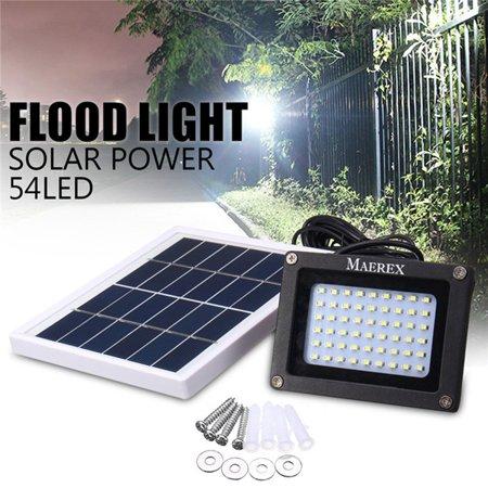 54 Led Solar Flood Light Dusk To Dawn Sensor Outdoor Wall Lights Security Night Lawn Lamp Waterproof Garden Patio