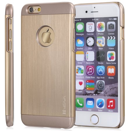 - Vena vFit Metal Brushed Aluminum and PC Slim Case Cover for Apple iPhone 6 (4.7