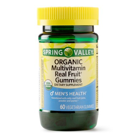 Spring Valley Men's Organic Multivitamin Vegetarian Gummies, 60