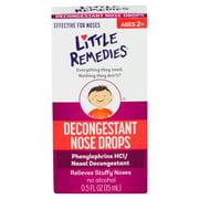 Little Remedies Decongestant Nose Drops, Ages 2-6, 0.5 FL OZ