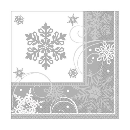 Sparkling Snowflake Lunch Napkins (16 Pack) - Party Supplies ()