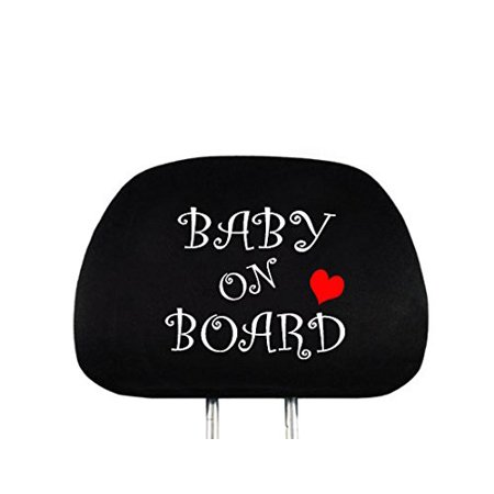 New Interchangeable Baby On Board Car Seat Headrest Cover Universal Fit for Cars Vans Trucks - One Piece Great Gift Idea Shipping Included](Vans Gifts)