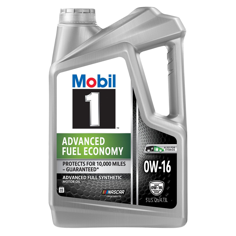 Mobil 1 Advanced Fuel Economy Full Synthetic Motor Oil 0W-16, 5 Quart