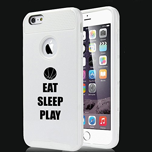 Apple iPhone 5 5s Shockproof Impact Hard Case Cover Eat Sleep Play Basketball (White),MIP