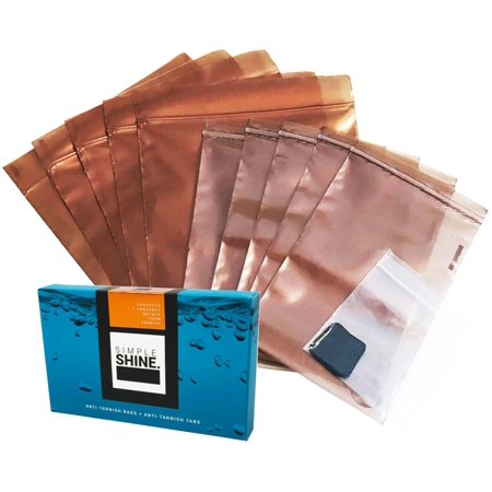 """Silver Jewelry Tarnish Prevention Bags Anti-Tarnish Strips 10 Bags 20 1"""" Tabs Corrosion Protector"""