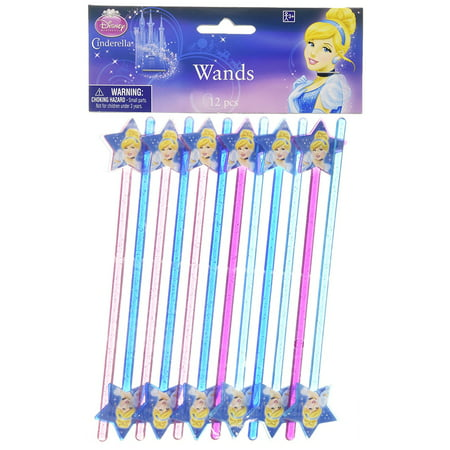 Disney Cinderella Magic Wand Birthday Party Favour (12 Pack), Multi Color, 6 5/8