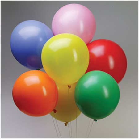 12' Assorted Number (Latex Balloons Party Supplies, 12-inch, 12-piece, Assorted)
