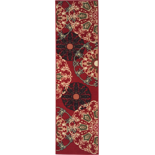 Ottomanson Ottohome Collection Contemporary Damask Design Area Rugs and Runners with Non-Skid (Non-Slip) Rubber Backing Available In Multiple Colors And Sizes
