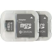 Centon MP Essential 8GB Class 4 microSDHC Card, 2pk