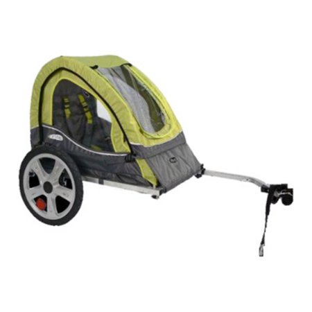 Infant Car Seat Bike Trailer (InStep Sync Single Child Bike Trailer - Green/Grey )