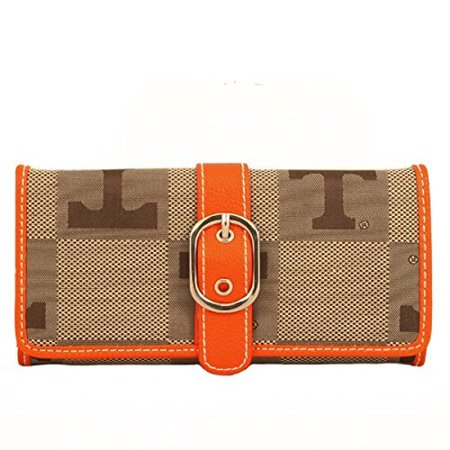 Tennessee Volunteers Leather and Jacquard Fabric Ladies Marlo Wallet
