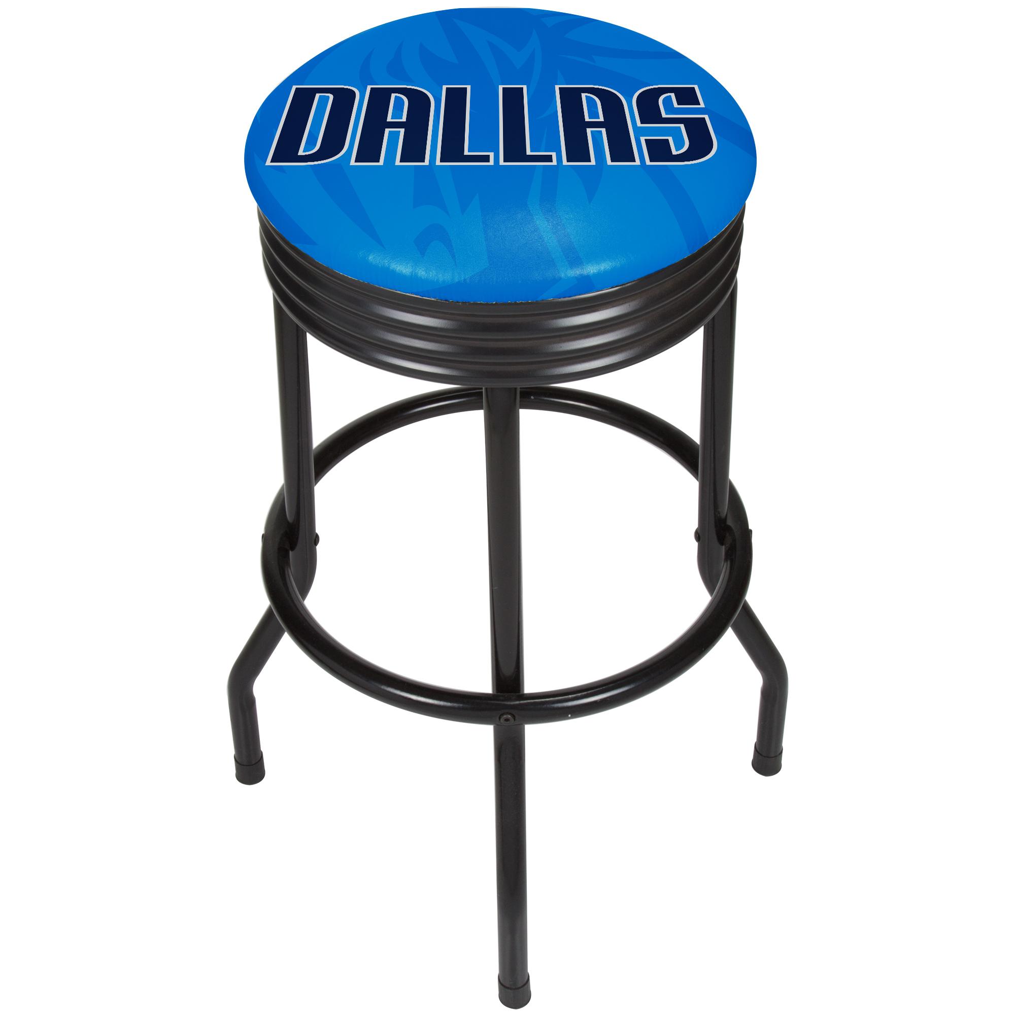 NBA Black Ribbed Bar Stool - Fade - Dallas Mavericks