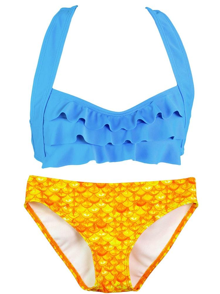 Girls Seawave Bikini by Fin Fun Mermaid, Colorful Swimwear matches Fin Fun Mermaid Tails