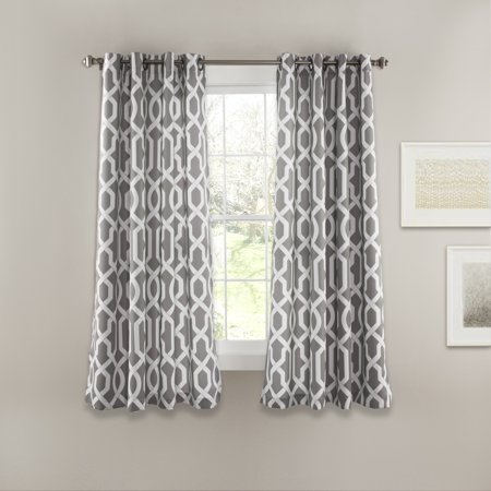 edward trellis room darkening window curtain set grey. Black Bedroom Furniture Sets. Home Design Ideas