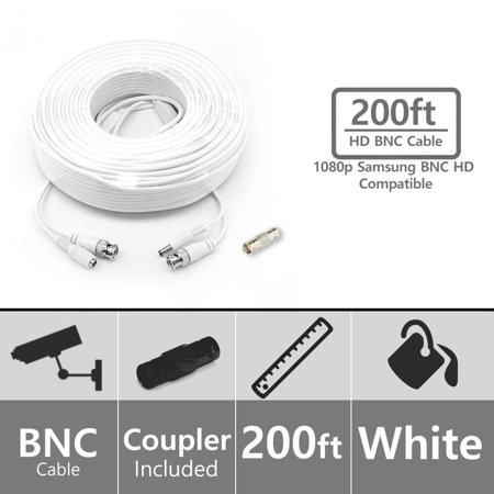 Crystal Vision 1080p Compatible STS-FHDC200 200ft BNC Video/Power Cable