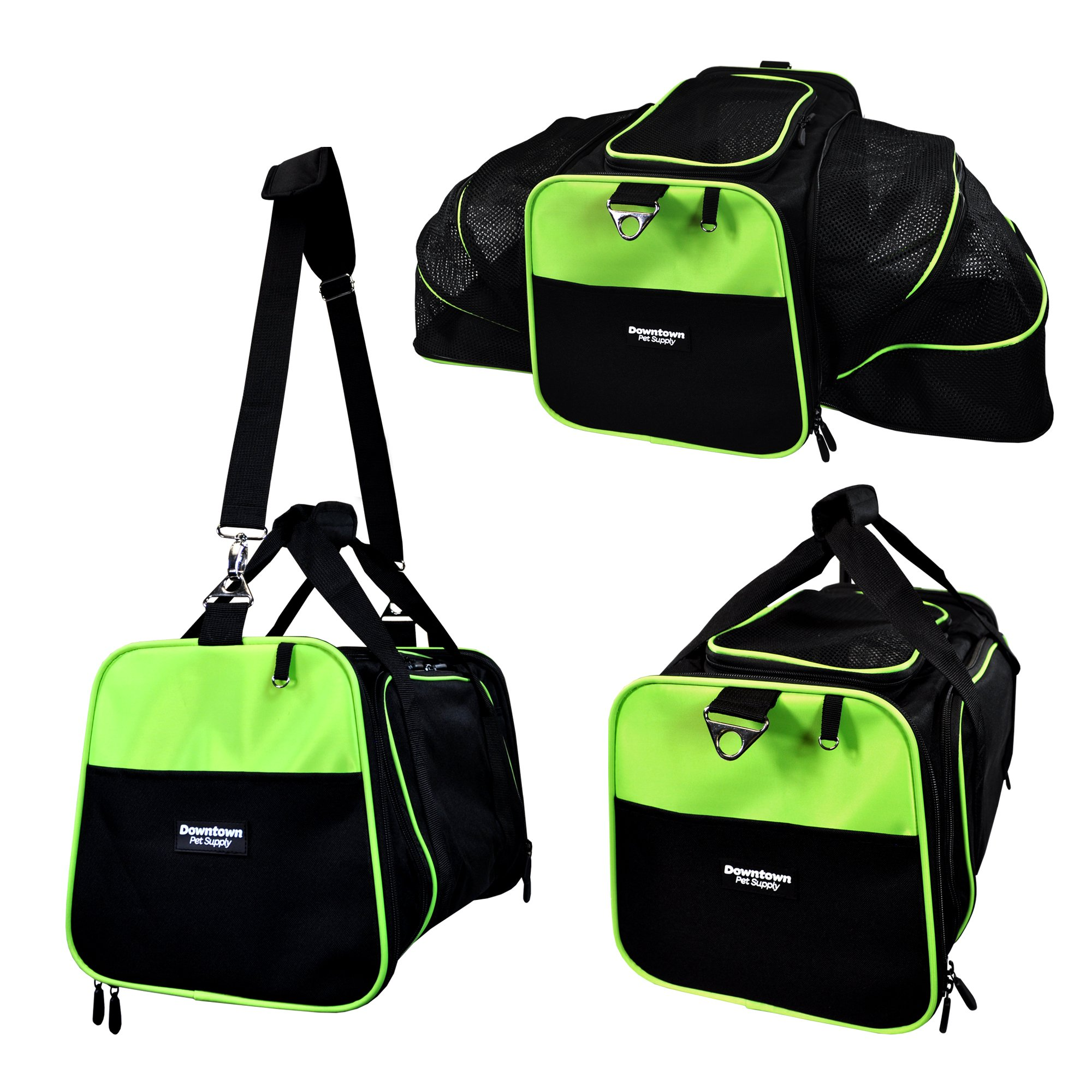 DTPS - Expandable Foldable Airline Approved Pet Travel Carrier for Small Dogs and Cats