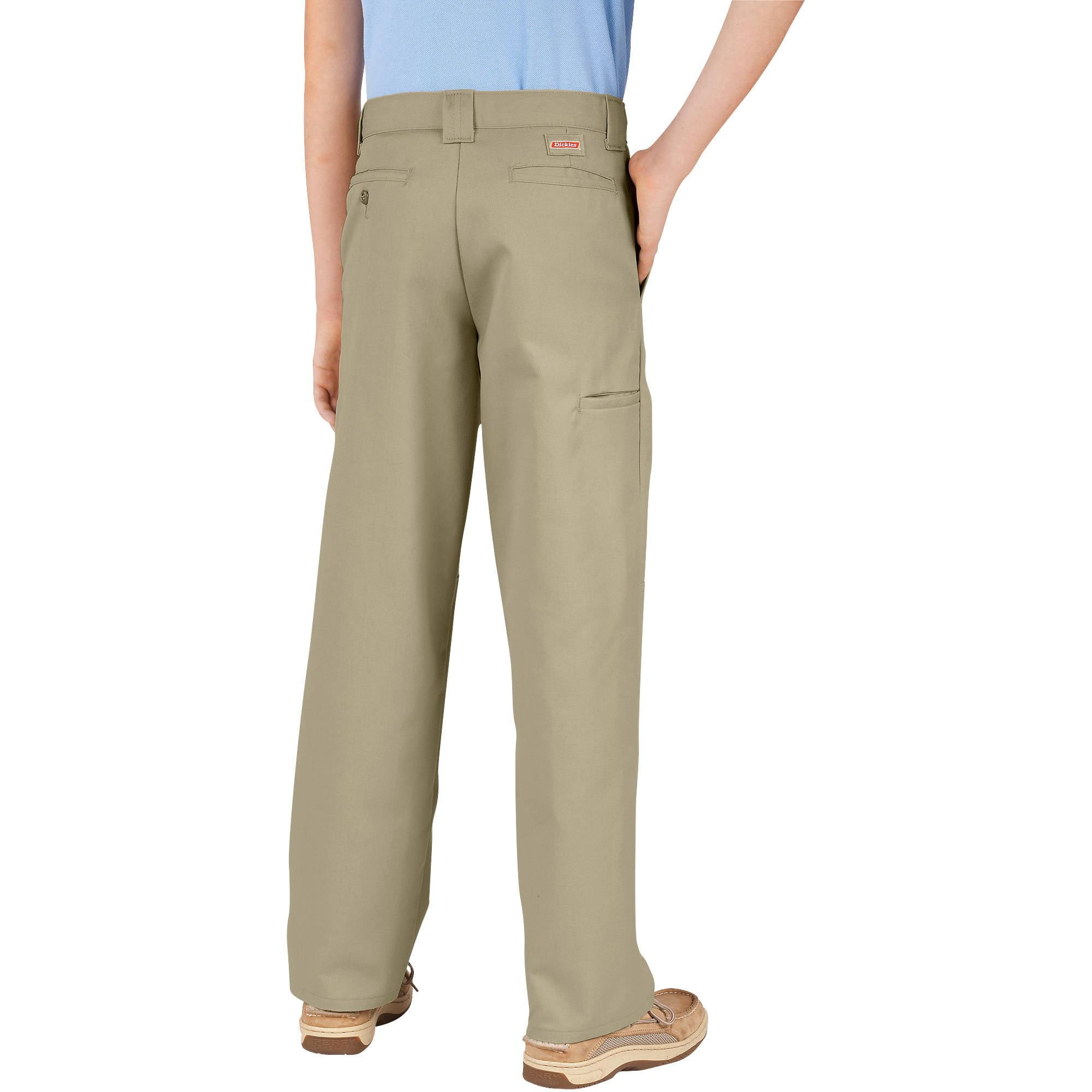 Genuine Dickies Husky Boys' Double-Knee Twill Pants - Walmart.com