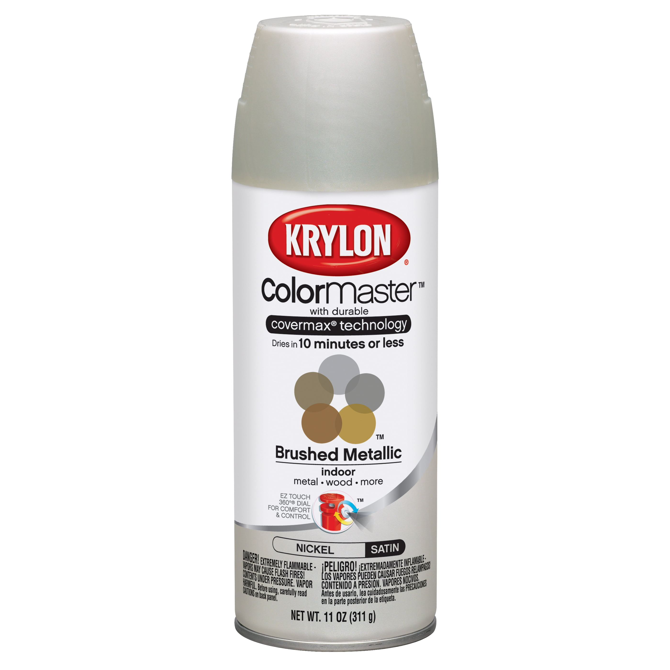 Krylon Colormaster Brushed Nickel Satin by Krylon