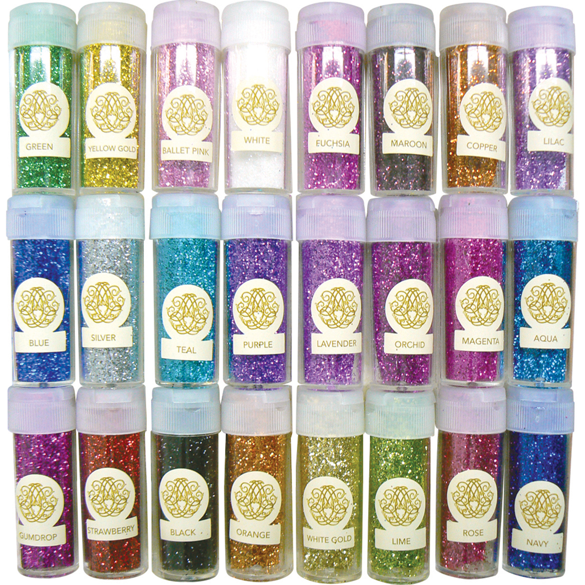Couture Creations Fine Glitter Collection 24/Pkg-