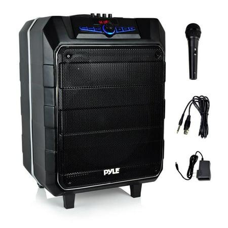 Speaker Pa System, 12in Jobsite Portable Wireless Small Pa Karaoke