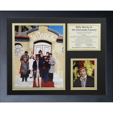 Legends Never Die Willie Wonka and the Chocolate Factory Framed Memorabilia for $<!---->
