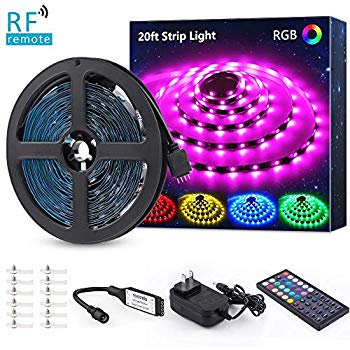 20ft Rgb Led Strip Light Kit Color Changing Flexible Dimmable 180 Units Smd 5050 Leds 12v