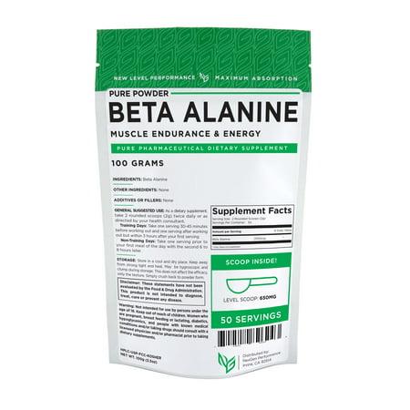 BETA ALANINE Powder - 100g (3.5oz) -Kosher -Recovery- Muscle Endurance &