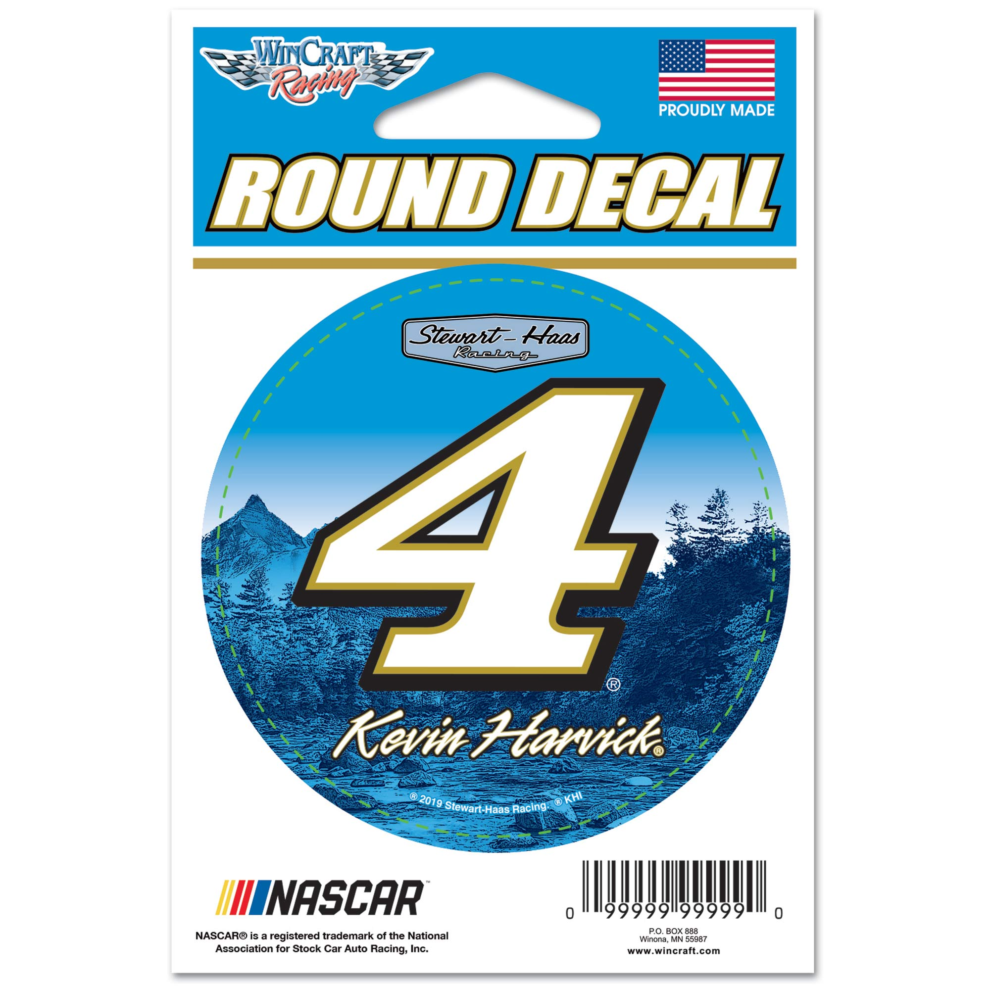 """Kevin Harvick WinCraft 3"""" Round Decal Sticker - No Size"""