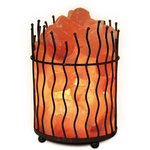 Himalayan Salt Natural Air Purifying Pillar Salt Lamp with Bulb and Dimmer Switch
