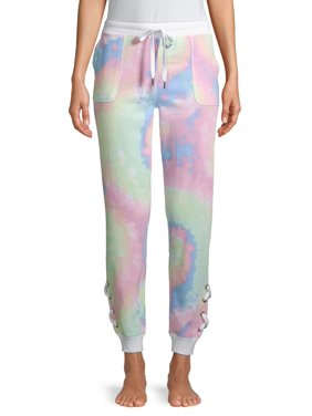 Secret Treasures Womens Sleepwear Lounge Lace-Up Jogger Sweatpants