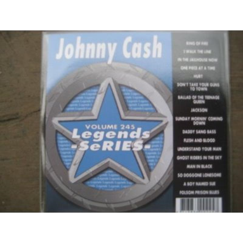 LEGENDS 245 Karaoke CDG All Hits of JOHNNY CASH
