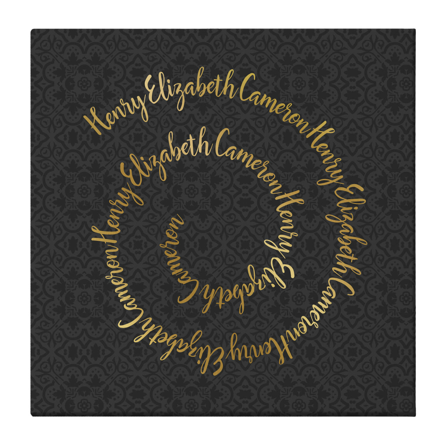 Personalized Circle of Love Canvas - Gold -Available in Gold or Teal and 2 Sizes