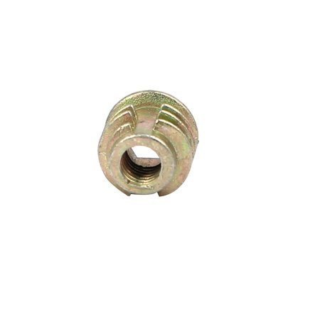 M4x8mm Interface Hex Socket Threaded Insert Nuts 50pcs for Wood Furniture - image 2 of 3